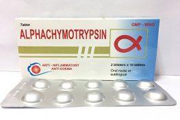 [ Alpha Chymotrypsin ] : Tác dụng , liều dùng , rủi ro và lưu ý !