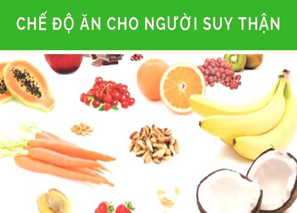 Người bệnh suy thận nên bổ sung dinh dưỡng phù hợp