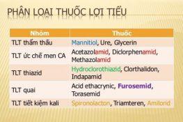Thuốc lợi tiểu là gì? Các nhóm thuốc lợi tiểu theo Tây y và Đông y