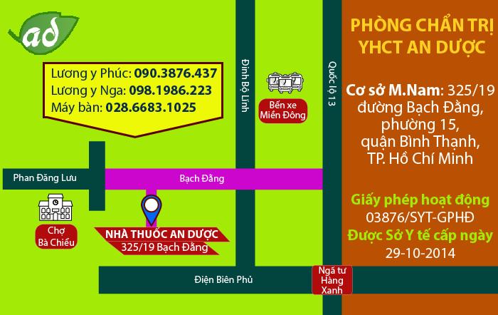 Địa chỉ phòng khám Tâm Minh Đường miền Nam