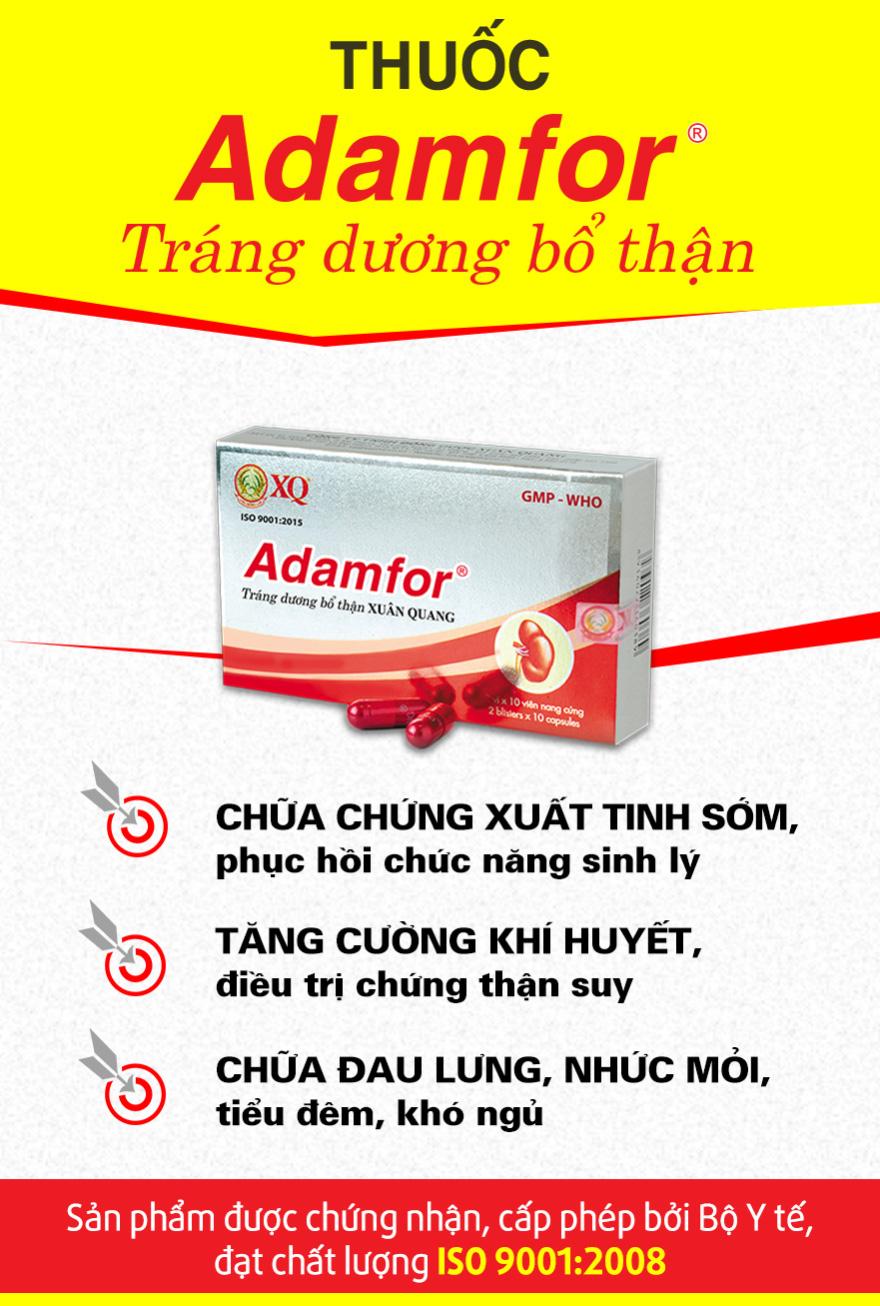Thuốc adamfor có tốt không