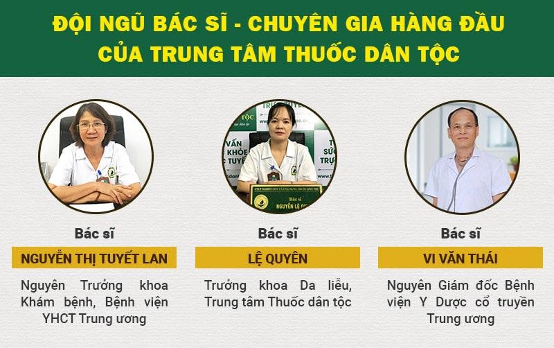 Đội ngũ bác sĩ Trung tâm Thuốc dân tộc