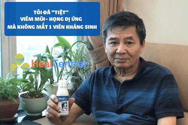 Ông Đàm Quang Trung - Cán bộ về hưu tại Phạm Văn Đồng, Hà Nội