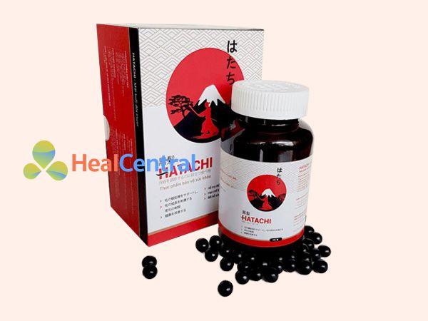 Hình ảnh viên uống đen tóc Hatachi