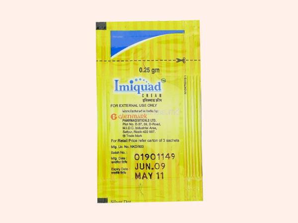 Hình ảnh thuốc Imiquimod Cream 5% dạng gói