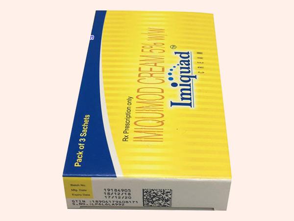 Hình ảnh thuốc Imiquimod Cream 5% giúp trị mụn cóc hiệu quả