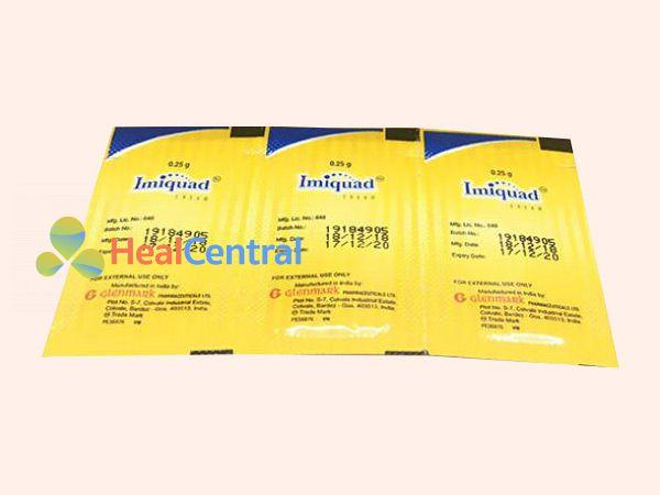 Hình ảnh dạng gói thuốc Imiquimod Cream 5%