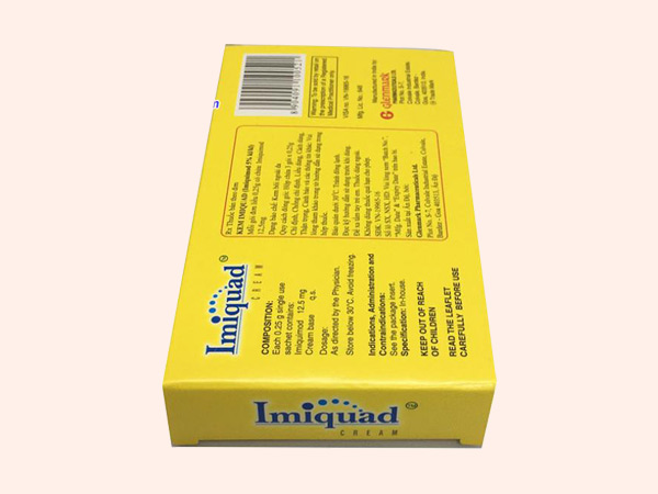 Hình ảnh thuốc Imiquimod Cream 5% mặt sau
