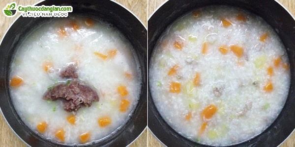 Cách nấu cháo tía tô